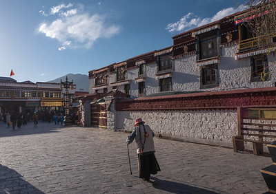 Barkor Street, Old town Lhasa, Tibet