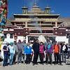 Сегодня в Самье (фото на фоне Центрального храма монастыря Утсе, символизирующего ось мироздания или гору Меру)