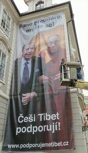 Stěhování bigboardu - Češi Tibet podporují