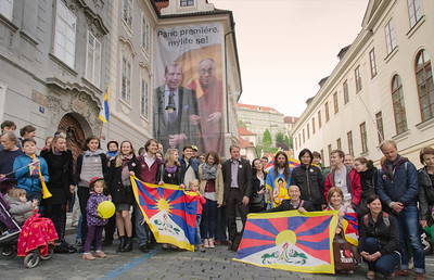 "Demonstration ""The Czechs support Tibet"""