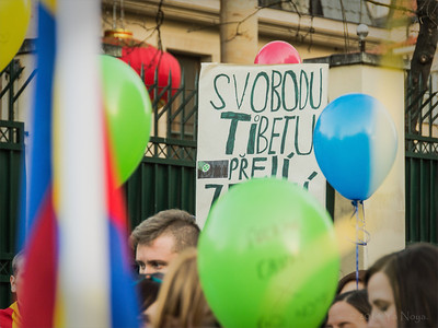 Demonstration - Tibetan Uprising Day 2014 Prague
