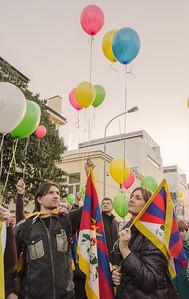 Demonstration - Tibetan Uprising Day 2014 Prague