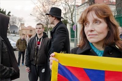 Tibetan Uprising Day 2013 Prague - Demonstration