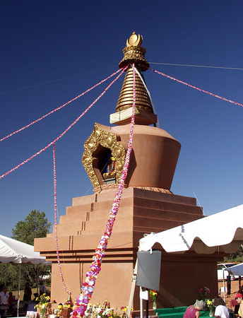 Amitabha Stupa Consecration at KPC-Sedona, 7-2004, by Tulku Sang-Ngag Rinpoche