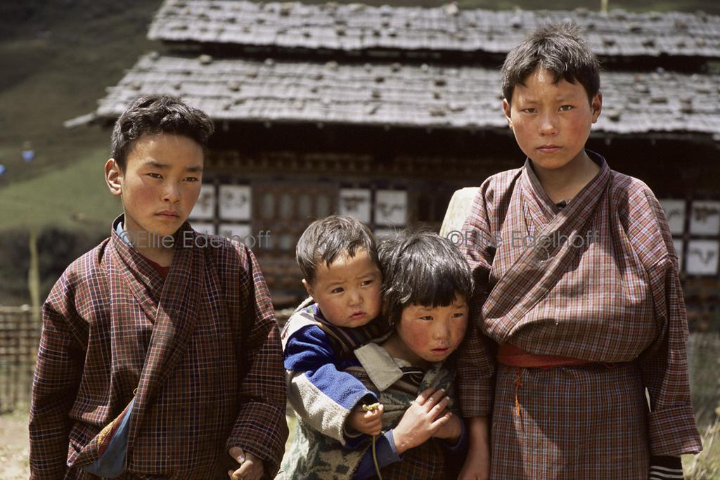 Bhutanese Siblings  - Bhutan