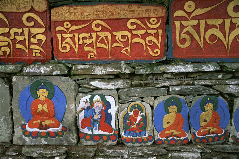 Mani Wall Offerings - Sikkim, India