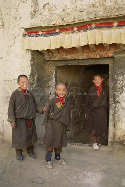Young Monks of Tashilunpo Monastery – Tibet