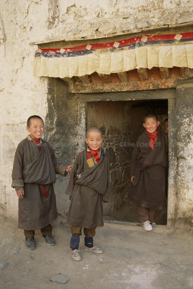 Young Monks of Tashilunpo Monastery – Tibet