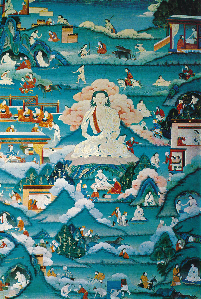 Milarepa. scroll painting