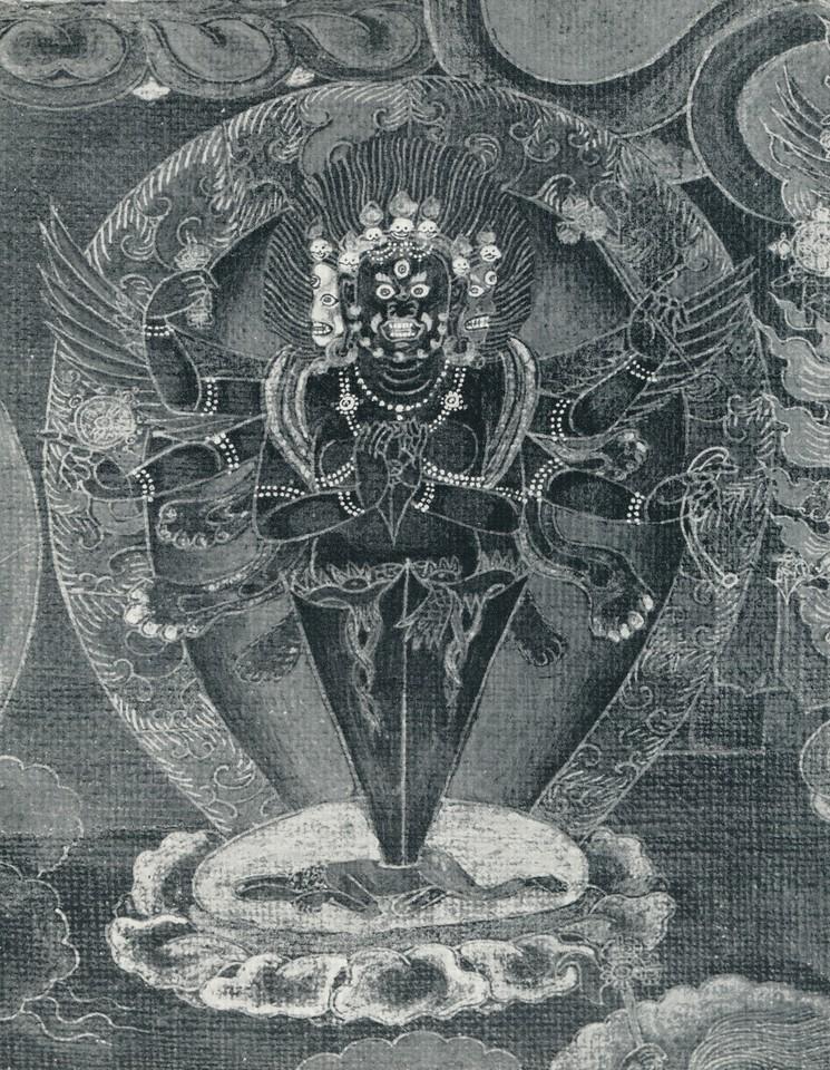 Heruka mandala_detail scroll painting