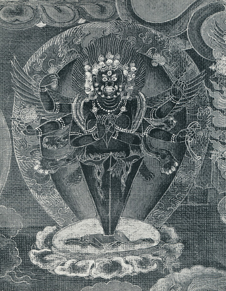 Heruka mandala_detail scroll painting