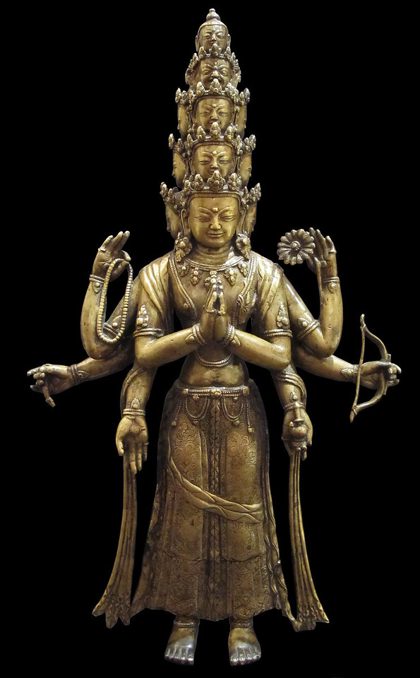 Eleven-faced Avalokiteshvara [Tibetan: chen re zig, chag tong shal chu chig]