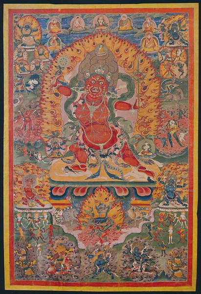 Flaming Tiger God Taglar Membar, Tibet 1800c