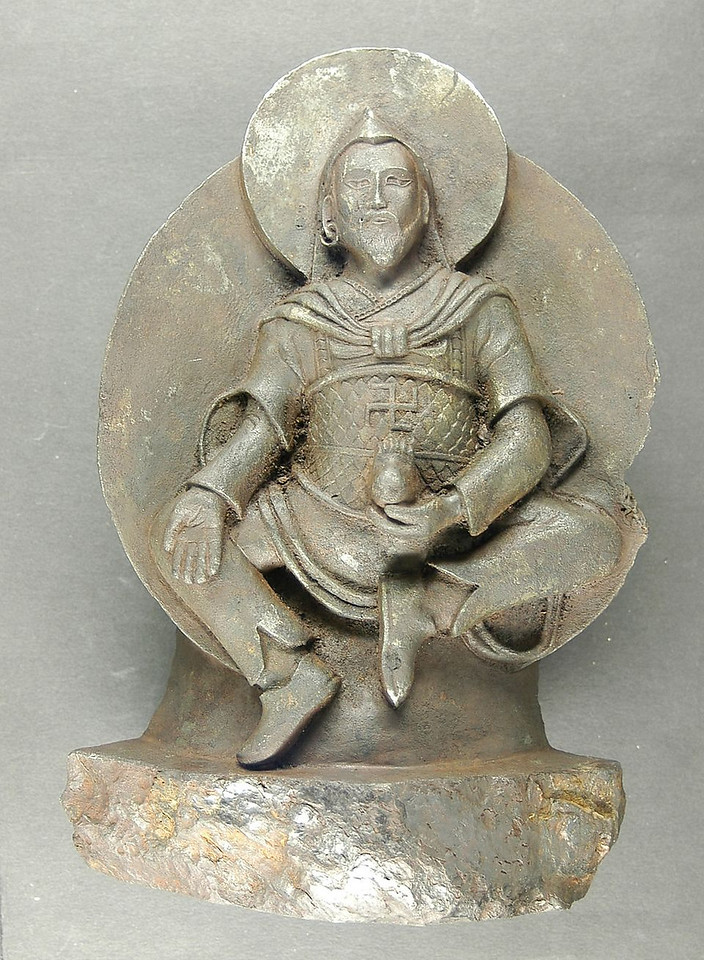 Vaisravana - Tibet, carved from meteorite, approx 800ce