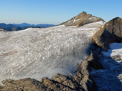 The Basodino Glacier, with an area of 2km^2 and ice depth up to 40m. (ticino.ch)