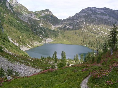 Lago d'Alzasca, 1855 m during spring. Source: Ticino.ch