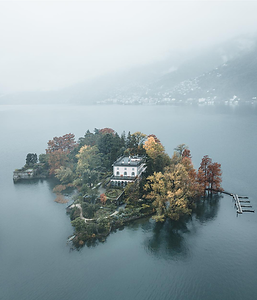 Aerial of the main Brissago Island. Source: @vickarellaaa on instagram