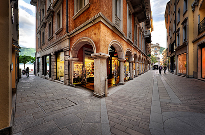Via Nassa, shopping street of Lugano. Source: https://www.luganoregion.com/en