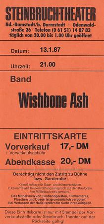 1987-01-13 - Wishbone Ash