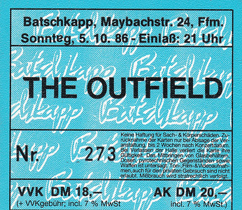 1986-10-05 - The Outfield