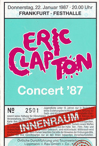 1987-01-22 - Eric Clapton