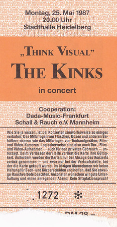 1987-05-25 - The Kinks