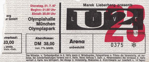 1987-07-21 - U2