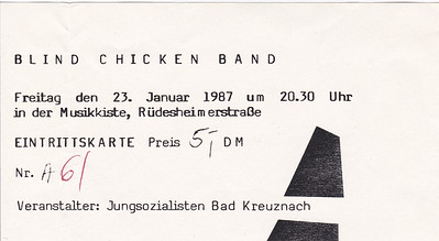 1987-01-23 - Blind Chicken Band
