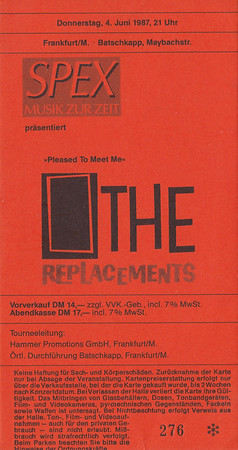 1987-06-04 - The Replacements