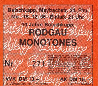 1986-12-15 - Rodgau Monotones