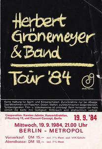 1984-09-19 - Herbert Grönemeyer