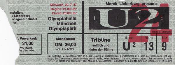 1987-07-22 - U2