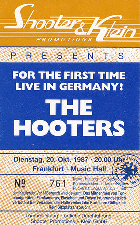 1987-10-20 - The Hooters