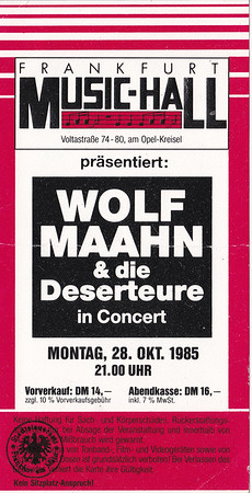 1985-10-28 - Wolf Maahn