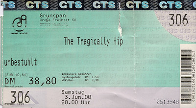 2000-06-03 - Tragically Hip