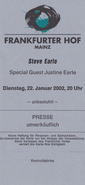 2002-01-22 - Steve Earle + Justin Townes Earle