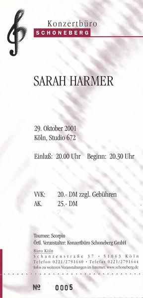 2001-10-29 - Sarah Harmer