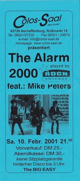 2001-02-10 - The Alarm
