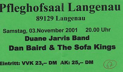 2001-11-03 - Dan Baird + Duane Jarvis