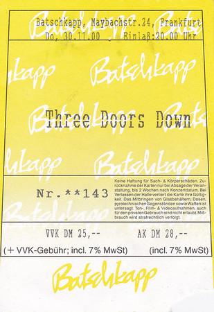 2000-11-30 - Three Doors Down