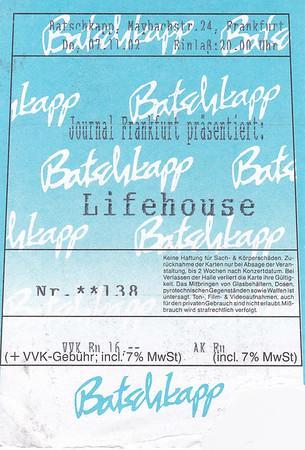 2002-11-07 - Lifehouse