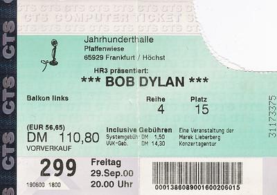 2000-09-29 - Bob Dylan
