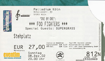 2002-12-08 - Foo Fighters + Supergrass