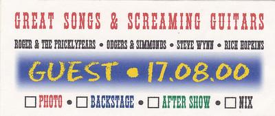 2000-08-17 - Rich Hopkins + Steve Wynn (Guest pass)