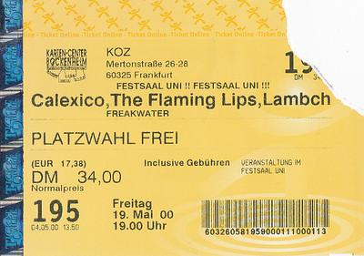 2000-05-19 - Calexico + Flaming Lips + Lambchop