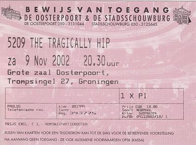 2002-11-09 - The Tragically Hip