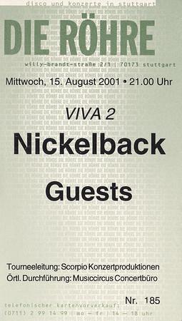 2001-08-15 - Nickelback