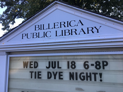 The Billerica Public Library held a Tie Dye Night on July 18. Photo by Mary Leach