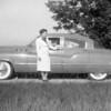 Bob & Eugene inside, Mom next to 1950 Buick... Fender skirts put on ny Ron & Wendell