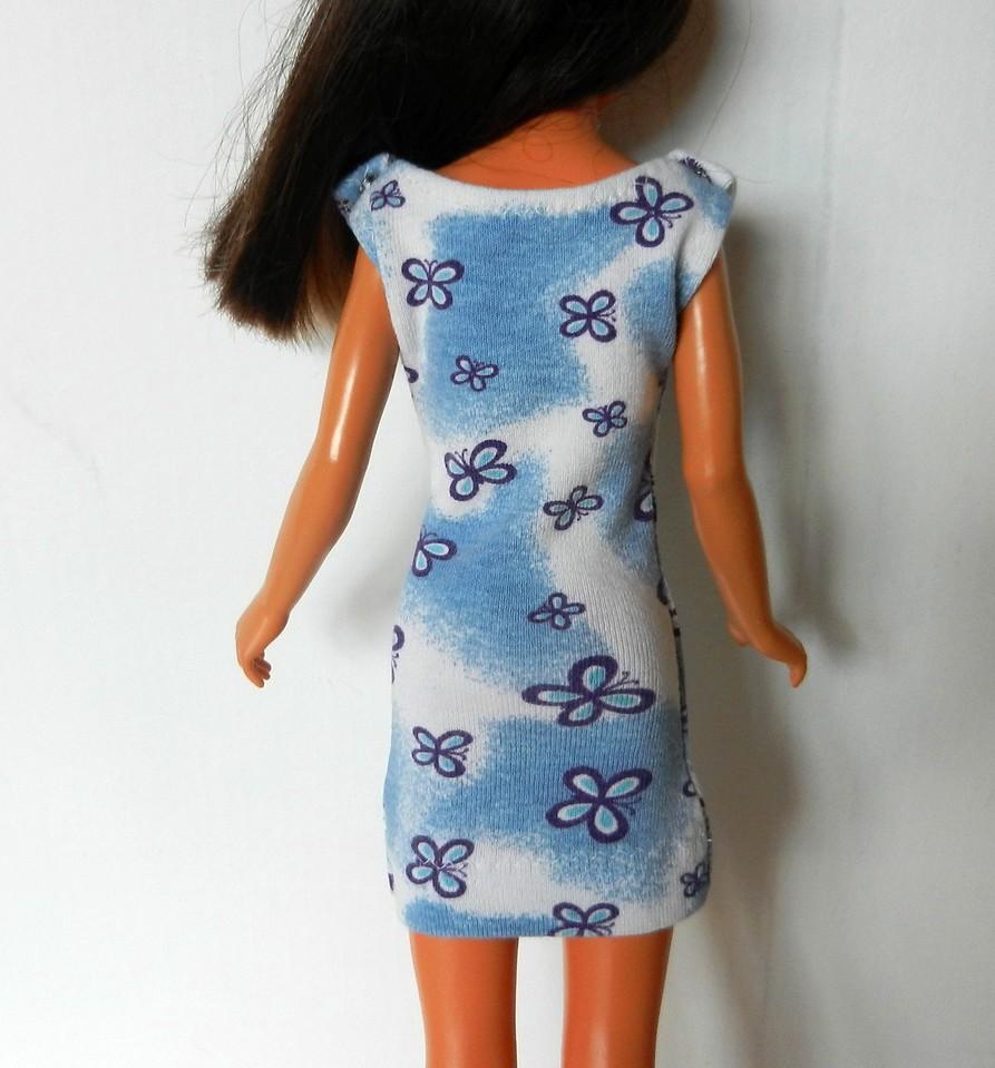 TT Blue w Purple Butterflies Dress back
